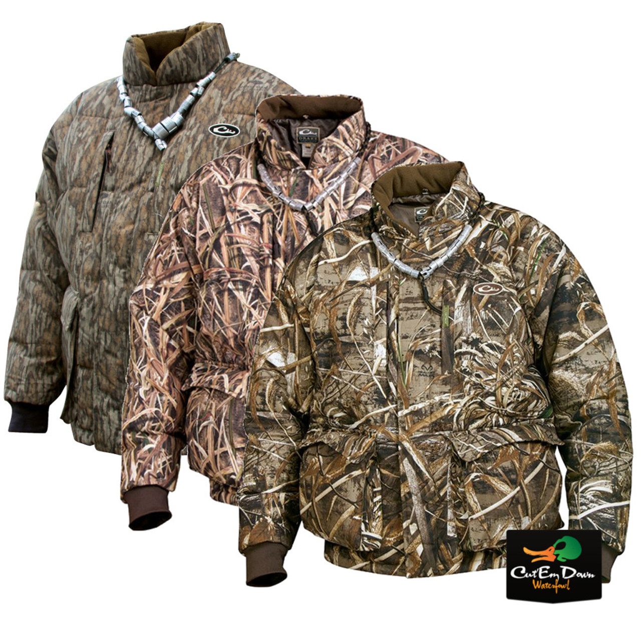 1ba0c54b81e03 Drake Waterfowl LST Down Coat - Camo