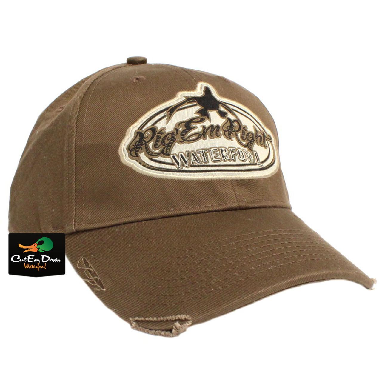 3b9cb5c2657 Rig Em Right Waterfowl Brown Distressed Hat