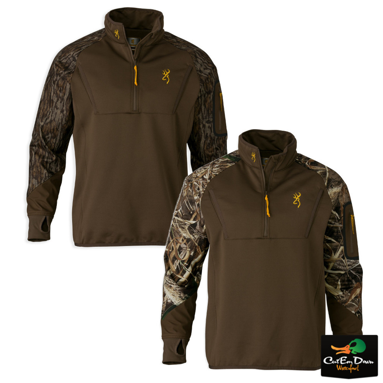 bccb5d9e70aa3 Browning Wicked Wing Timber Fleece 1/4 Zip Top