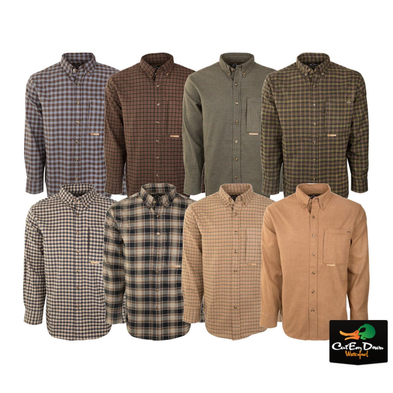 Jofemuho Men Plaid Trendy Long Sleeve Turn Down Collar Slim Button Down Blouse Shirt