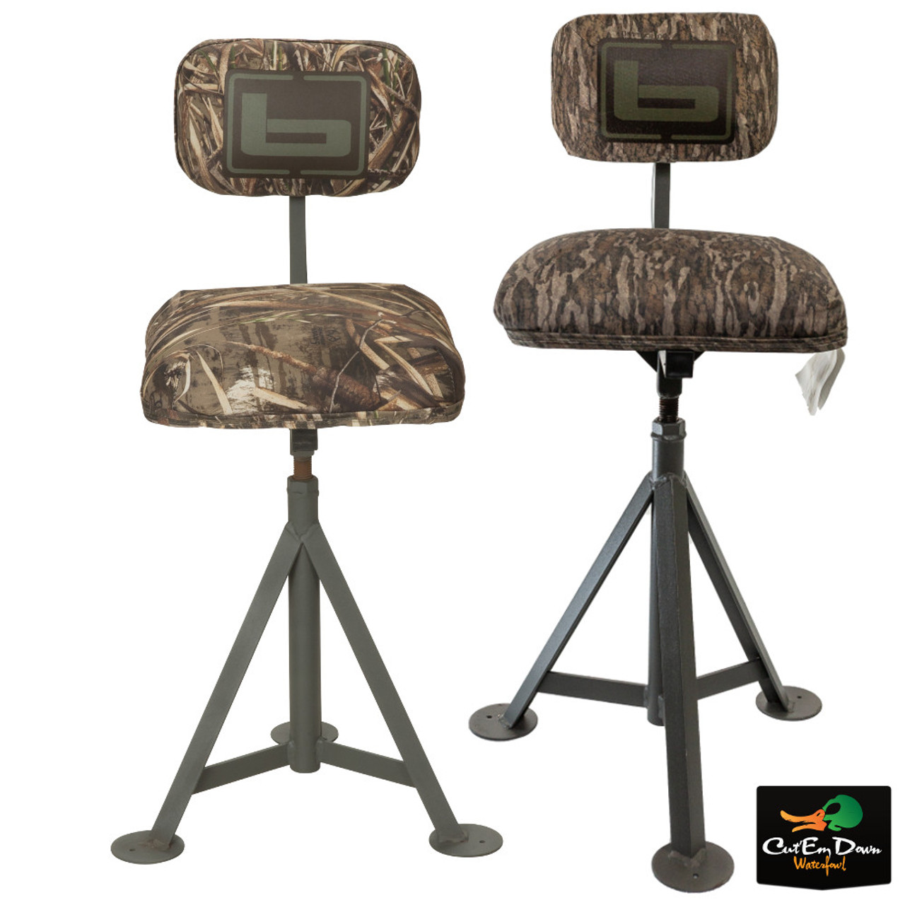 New Banded Gear Swivel Blind Chair Duck Hunting Camo Pit Seat Stool Padded Seats Chairs