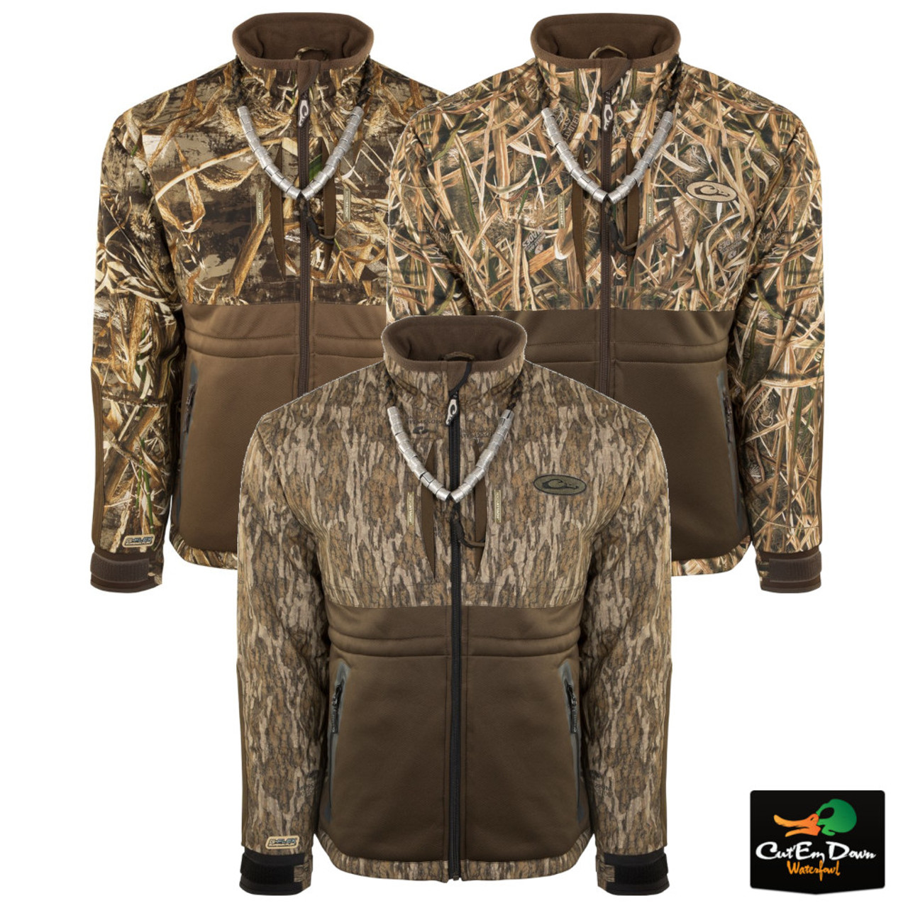 c120c9f6df6ad Drake Waterfowl Guardian Flex Full Zip Heavy Weight Eqwader Wading ...