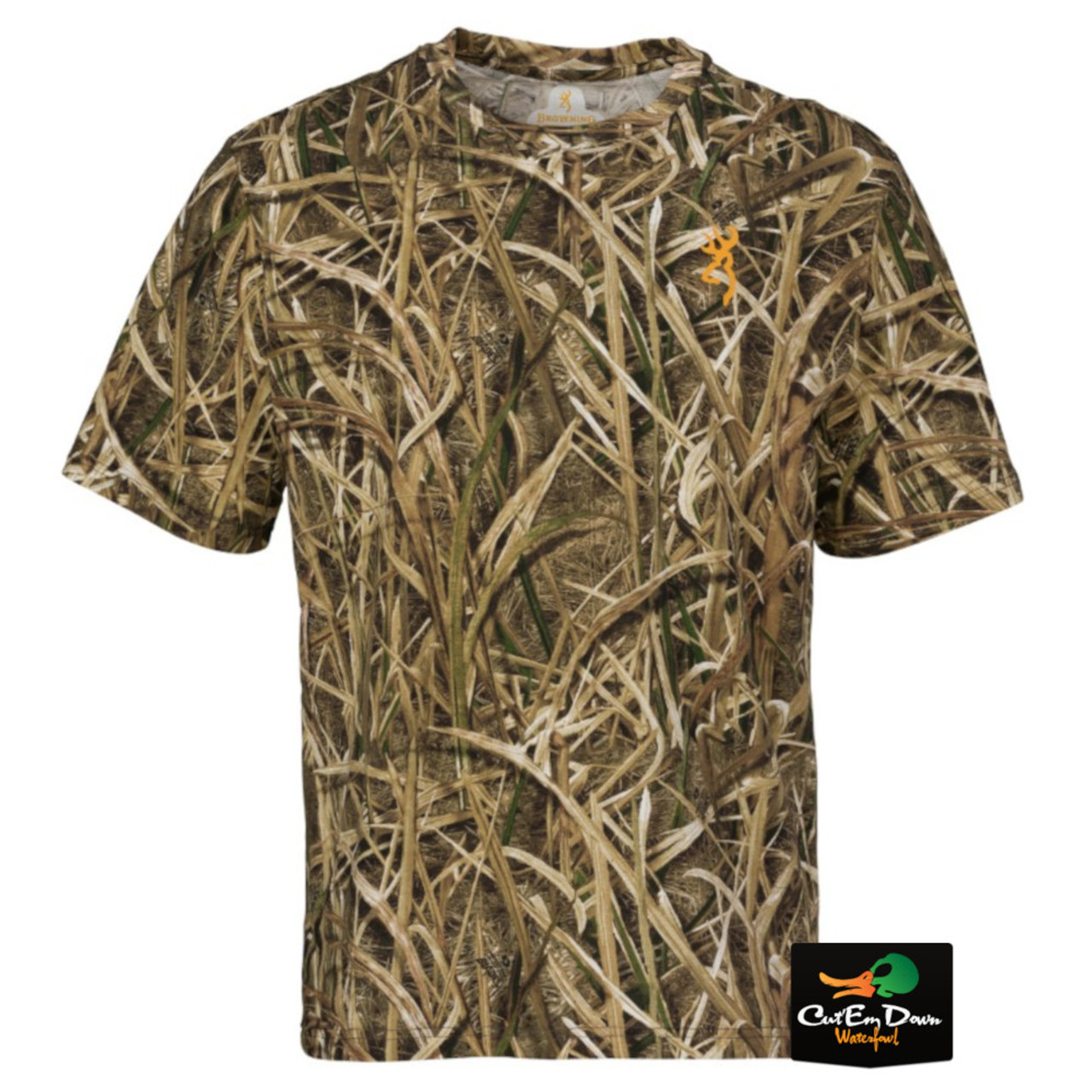 68c87877e436c Browning Wasatch CB Short Sleeve T-Shirt - Mossy Oak Shadow Grass ...