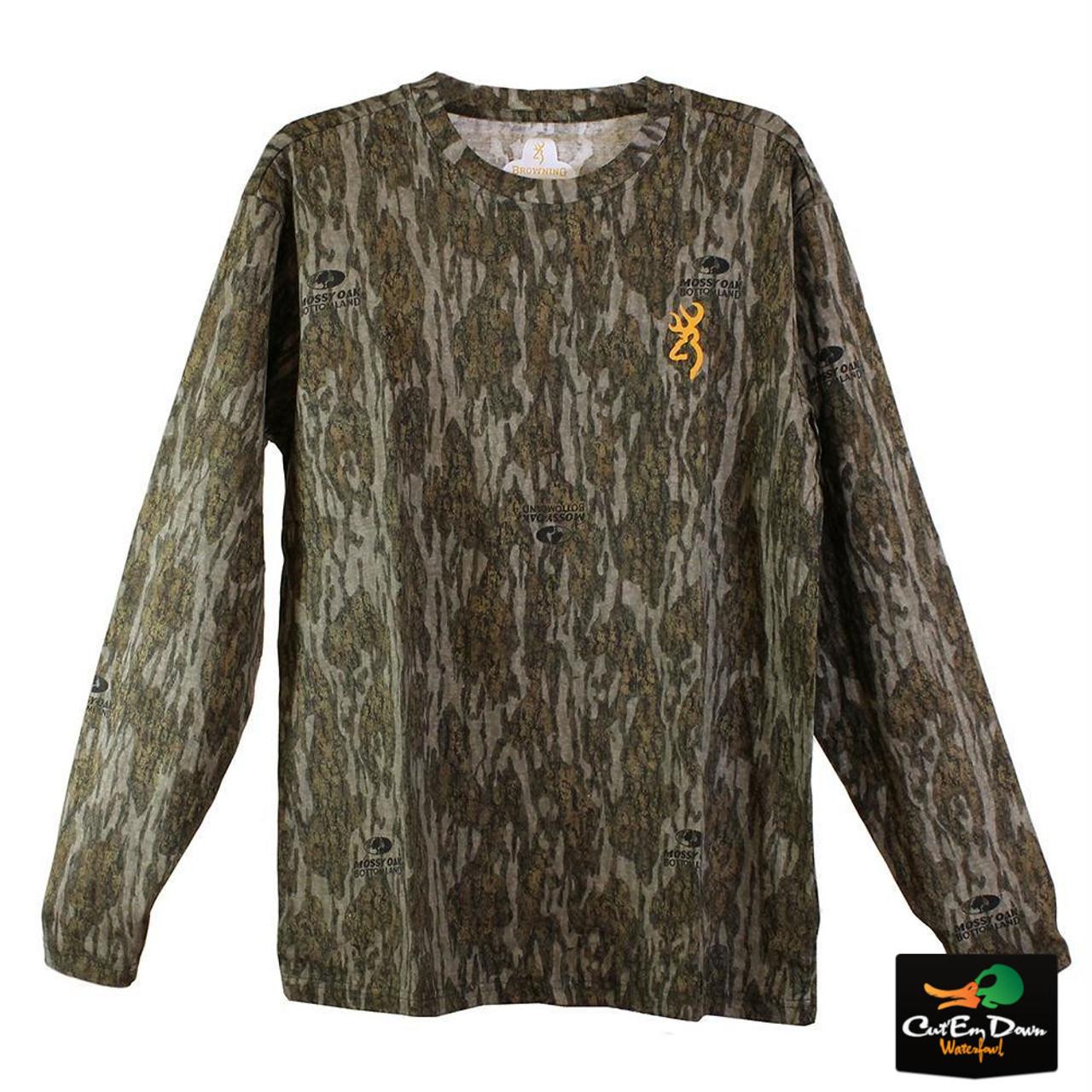 adafab727257b Browning Wasatch CB Long Sleeve T-Shirt - Mossy Oak Bottomland Camo