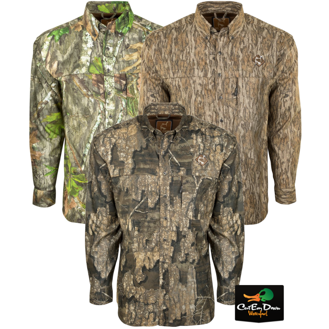 Details about DRAKE WATERFOWL OL TOM MESH BACK FLYWEIGHT CAMO SHIRT WITH  SPINE PAD