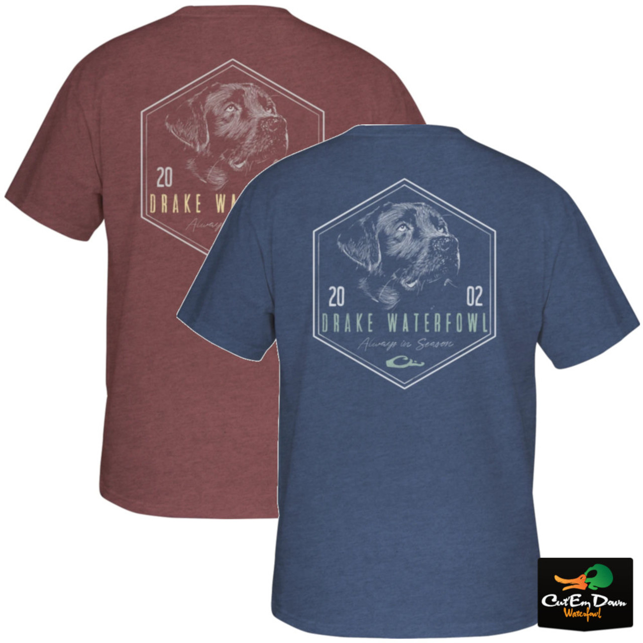 Drake Waterfowl in-The-Zone Black Lab Short Sleeve T-Shirt