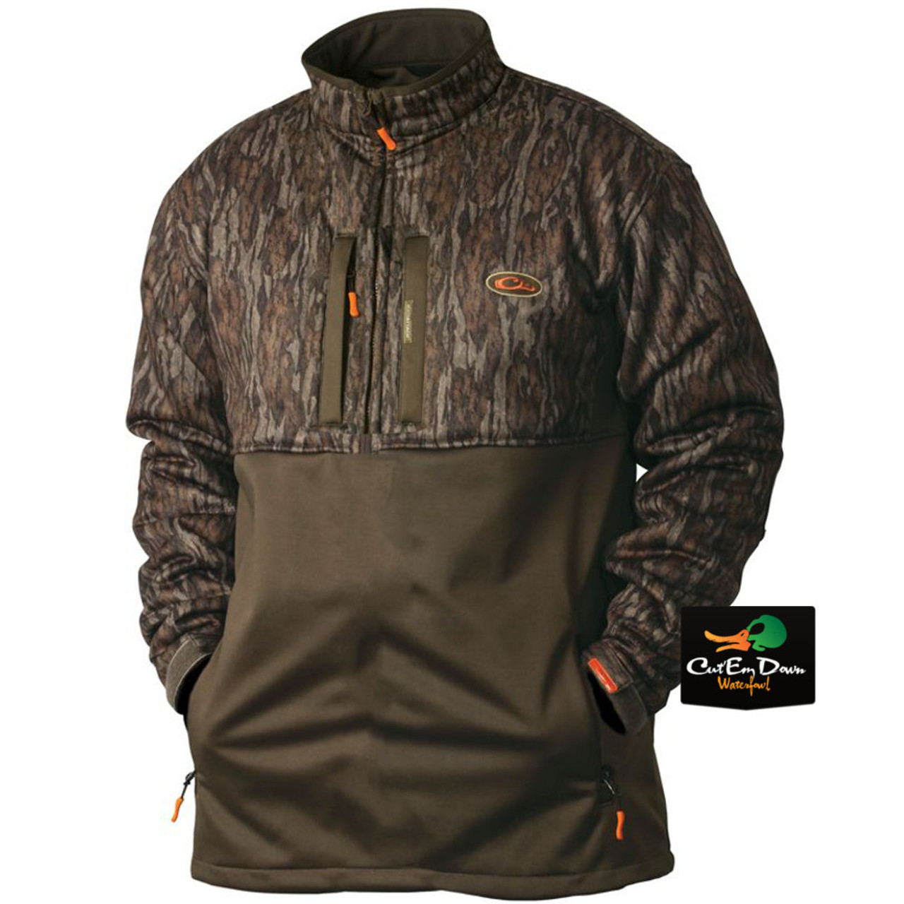 faacec99974bf Drake Waterfowl Double Impact Silencer Quarter Zip Pullover