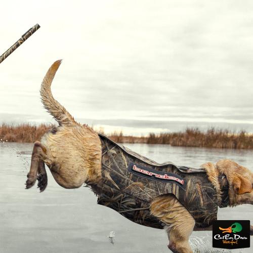BANDED GEAR 5MM NEOPRENE DOG PARKA BOATERS VEST ORIGINAL BOTTOMLAND CAMO LARGE