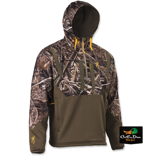 40dca70121d48 BROWNING DIRTY BIRD TIMBER SOFT SHELL 1/4 ZIP PULLOVER HOODIE