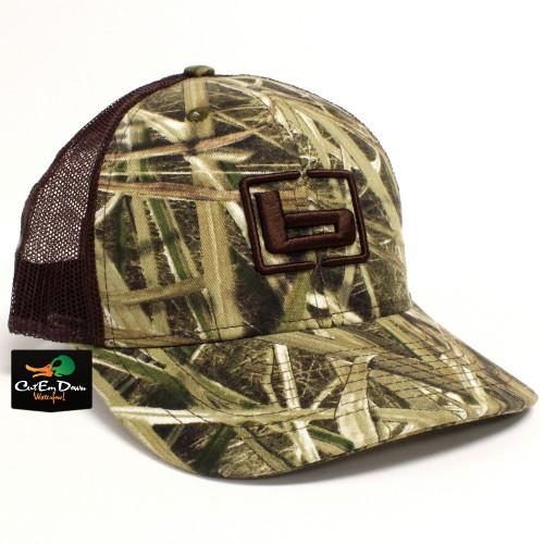 7ffac8bb6d1 Banded Trucker Cap Shadow Grass Blades Camo   Brown Mesh