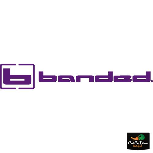 "BANDED GEAR b LOGO VINYL WINDOW DECAL STICKER TRUCK BOAT ATV VERTICAL WHITE 24/"""