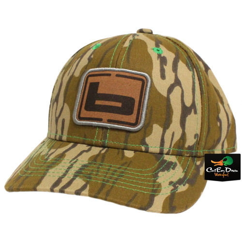 b196af01c5e Banded Original Bottomland Camo Hunting Cap with Leather Patch Logo