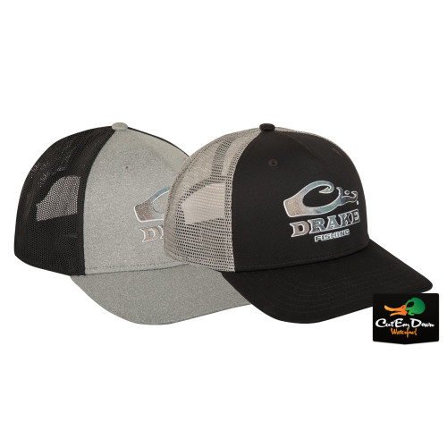 b3f809906a0 Drake Fishing Logo Mesh Back Cap