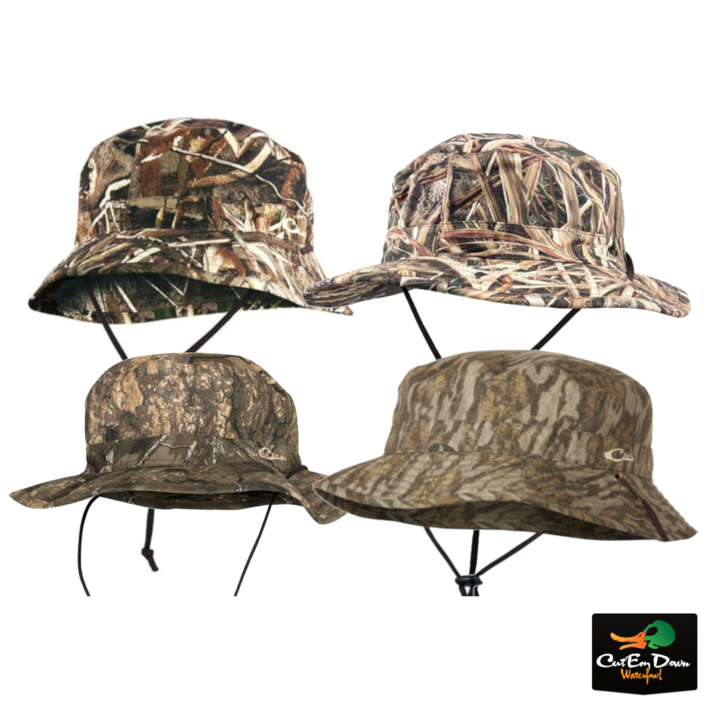 0458ffb03 Details about DRAKE WATERFOWL SYSTEMS CAMO WATERPROOF BOONIE HAT BUCKET CAP