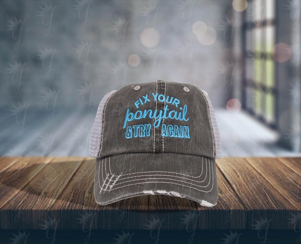 Fix Your Ponytail Hat