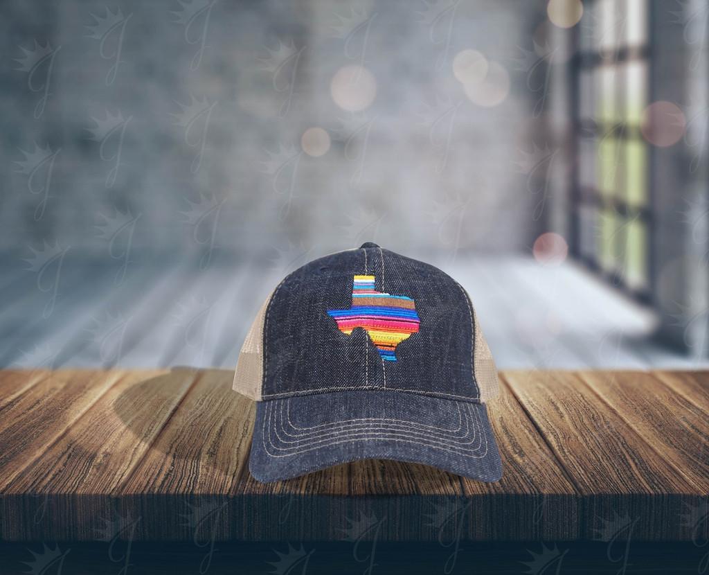 Texas Serape Denim Hat