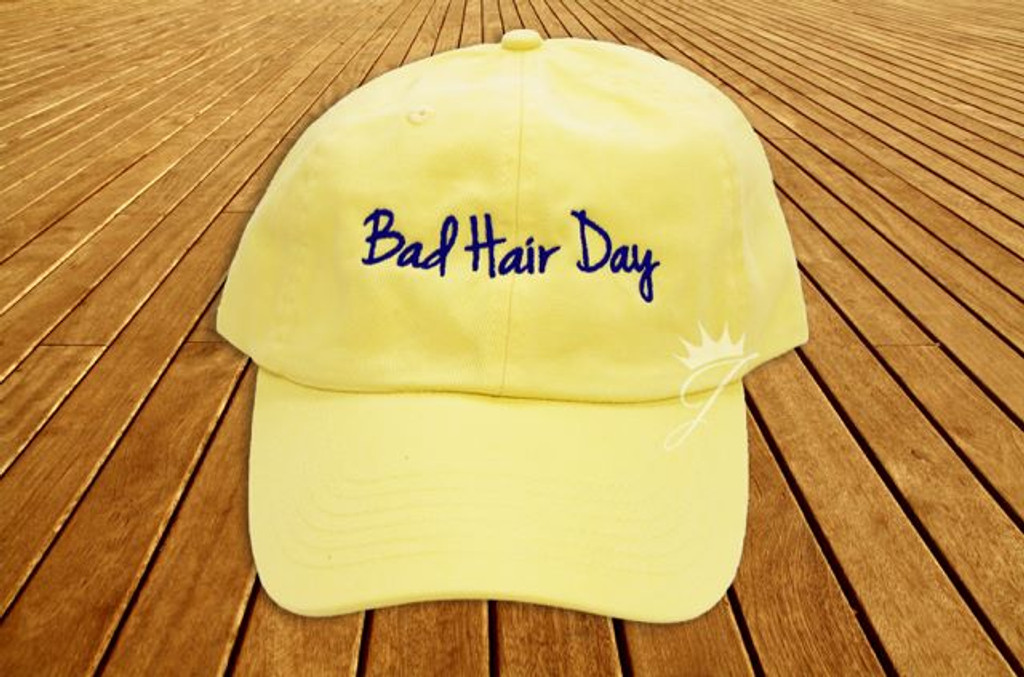 Bad Hair Day Yellow Dad Hat