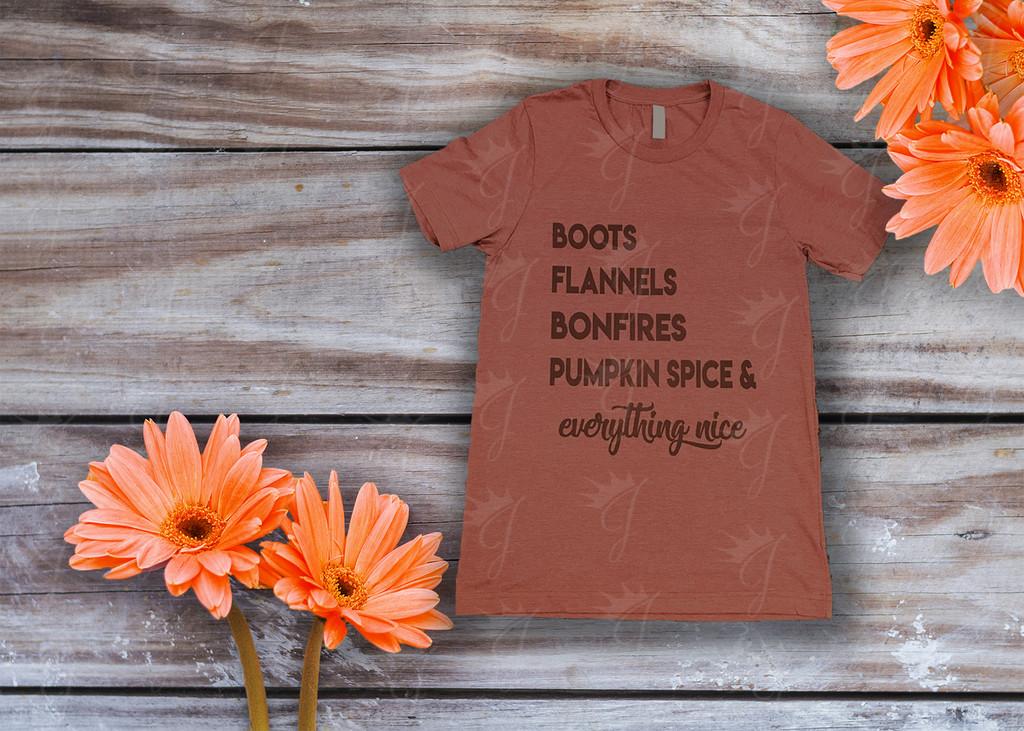 Boots Flannels Bonfires & Pumpkin Spice