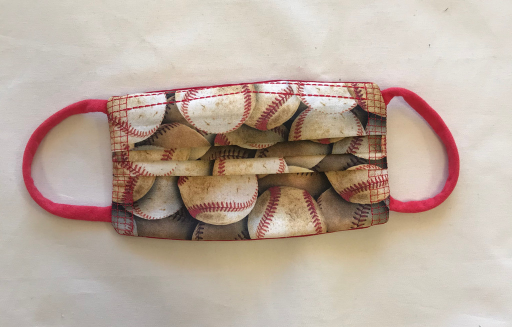 Baseball Pleated Fashion Face Mask