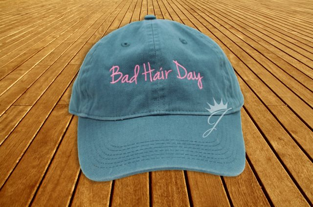 Bad Hair Day Turquoise Dad Hat