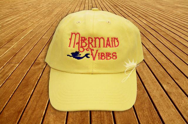 Mermaid Vibes Yellow Dad Hat