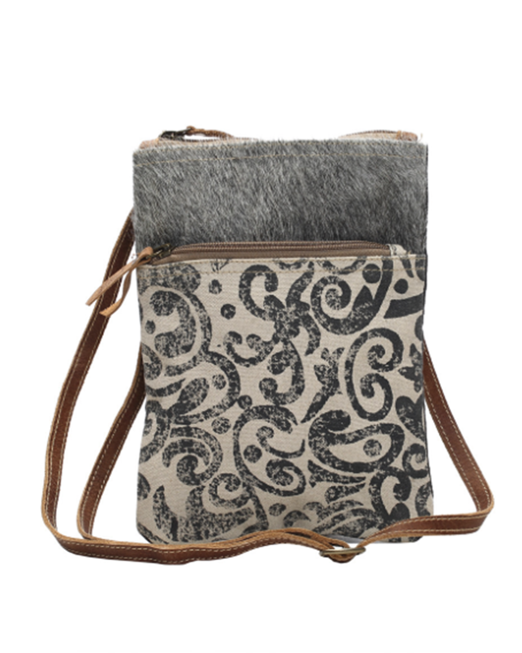 Leaf Pattern Cross-Body