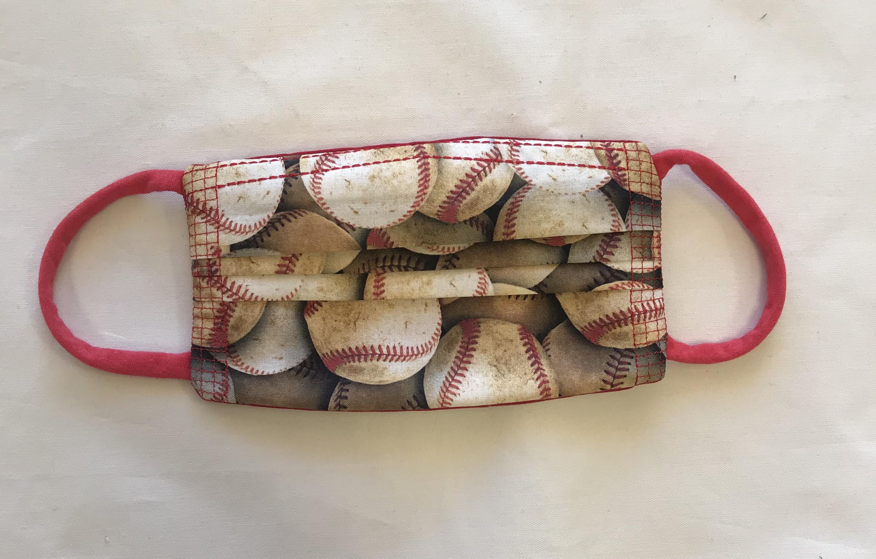 Baseball Pleated Fashion Face Mask