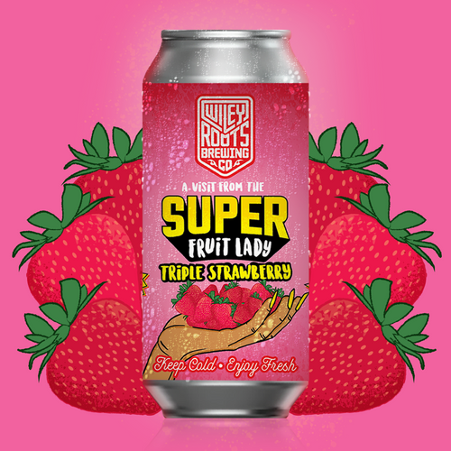 Smoothie style unpasteurized fruited sour ale with triple the amount of Strawberry.