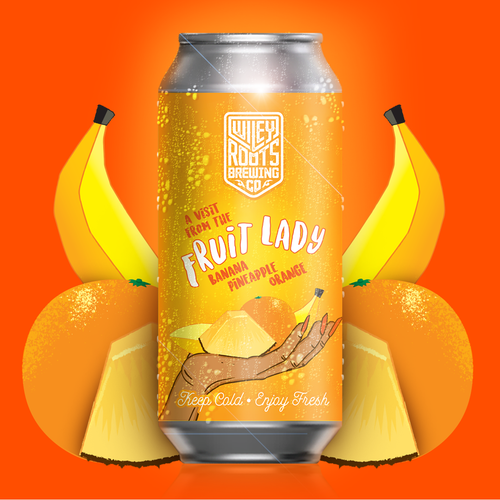 Smoothie style unpasteurized Fruited Sour Ale with puréed Banana, Pineapple, and Orange