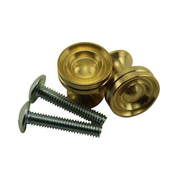 Satin Brass Piano Desk Knobs