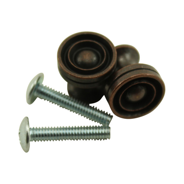 Antique Bronze Piano Desk Knobs with Machine Screws