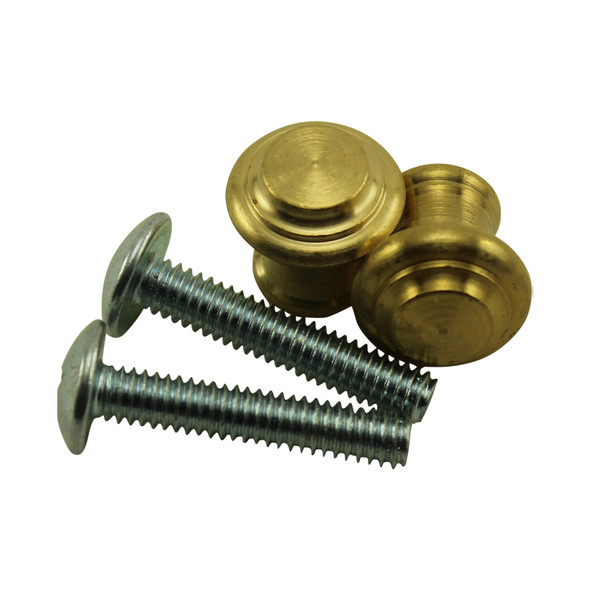 Small Satin Brass Piano Desk Knobs