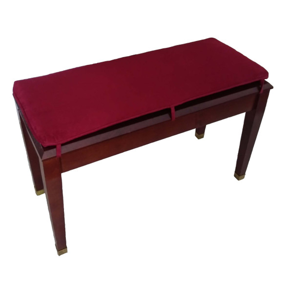 Wine Suede Piano Bench Cushion
