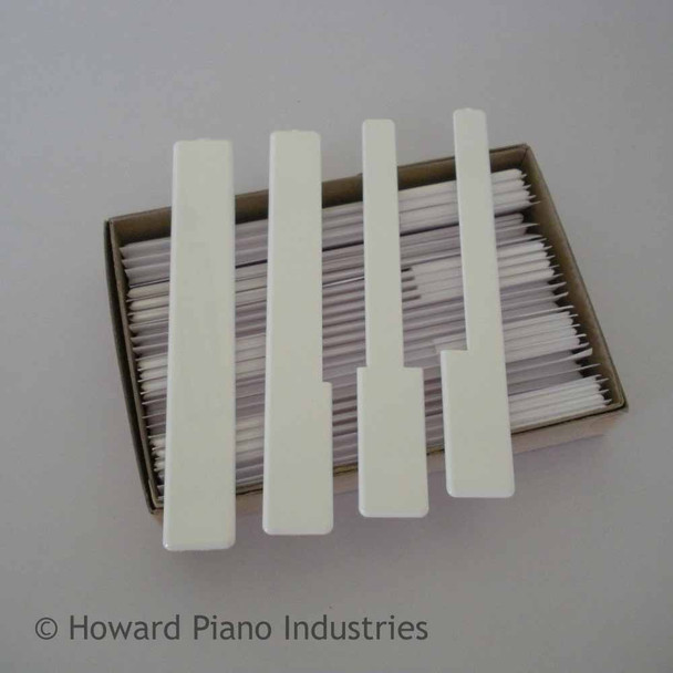 One Octave of White Keytops without Fronts