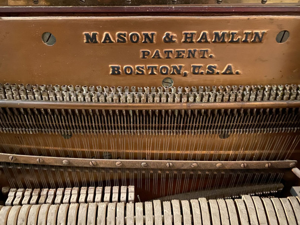 Mason & Hamlin Screw Stringer Piano