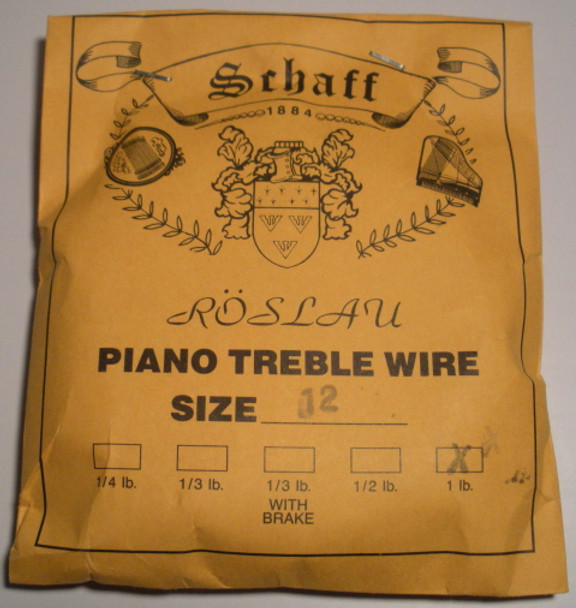 Roslau Piano Music Wire - 1 pound coil