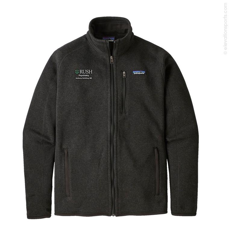 Custom Patagonia Better Sweater Fleece Jacket - Black