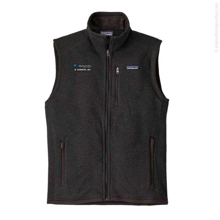 Custom Patagonia  Better Sweater Fleece Vest - Black