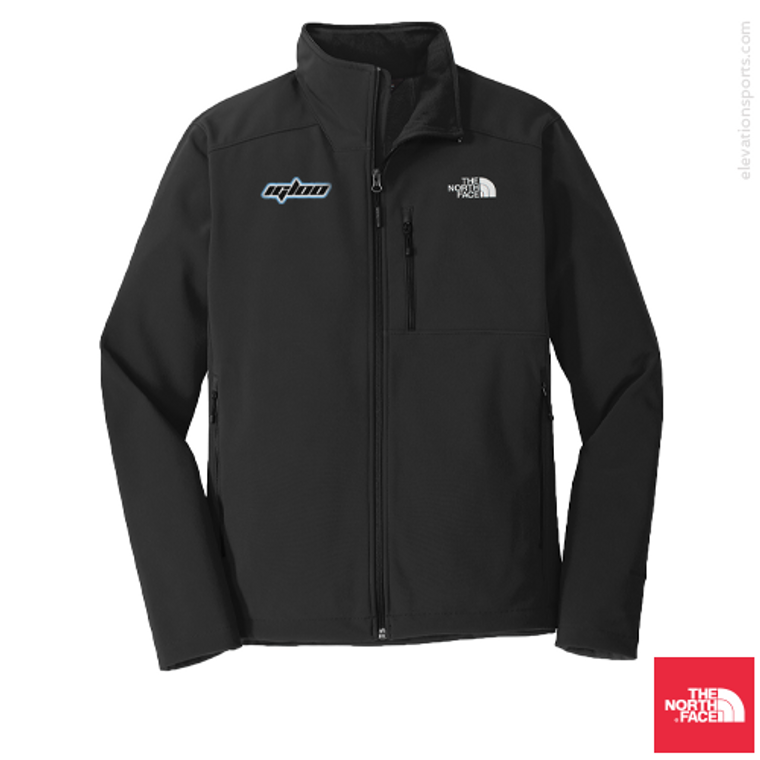 Custom North Face Apex Barrier Soft-Shell Jacket - Black
