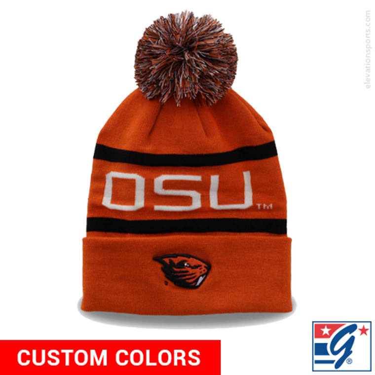 The Game Roll-Up Custom Winter Hat with Pom
