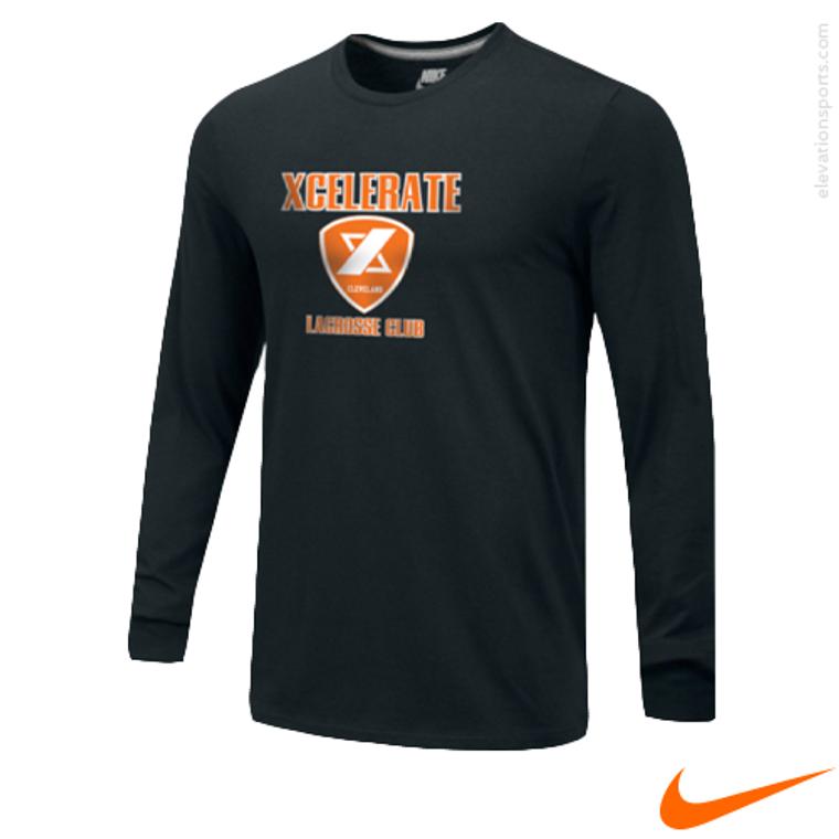 Custom Nike Core Cotton Long Sleeve T-Shirts