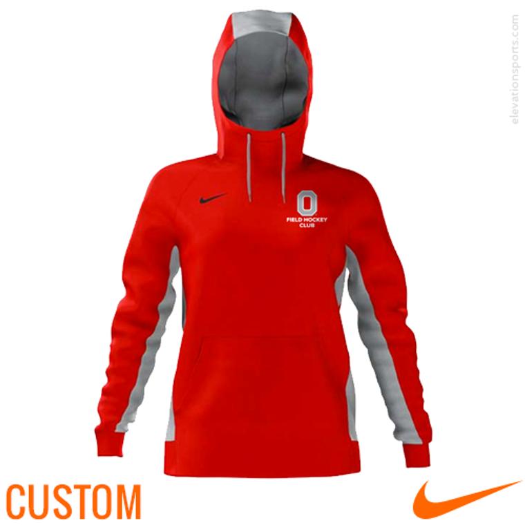 Custom Nike Women's Sublimated Hoodies - Red