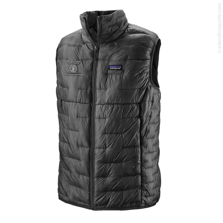 Custom Patagonia Micro Puff Down Vest - Grey