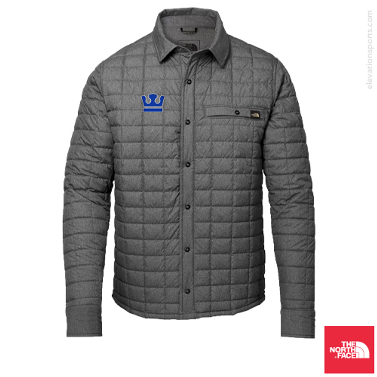 Custom North Face Thermoball Eco Shirt Down Jackets - Heather Grey