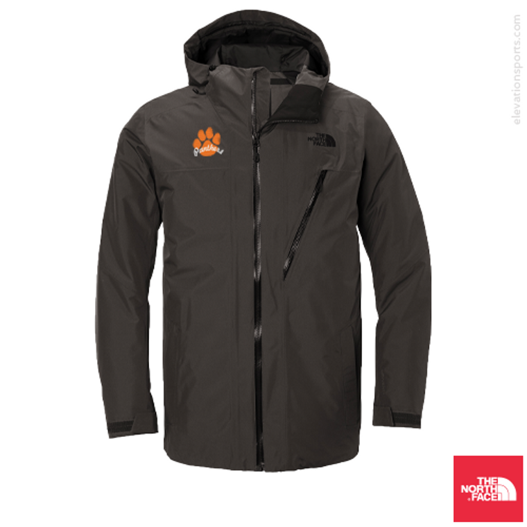 Custom North Face Ascendent Waterproof Insulated Jacket - Asphalt Grey