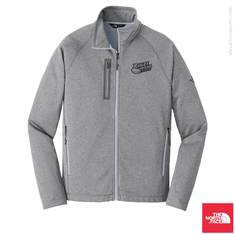 Custom North Face Canyon Flats Fleece Jacket - Medium Grey Heather