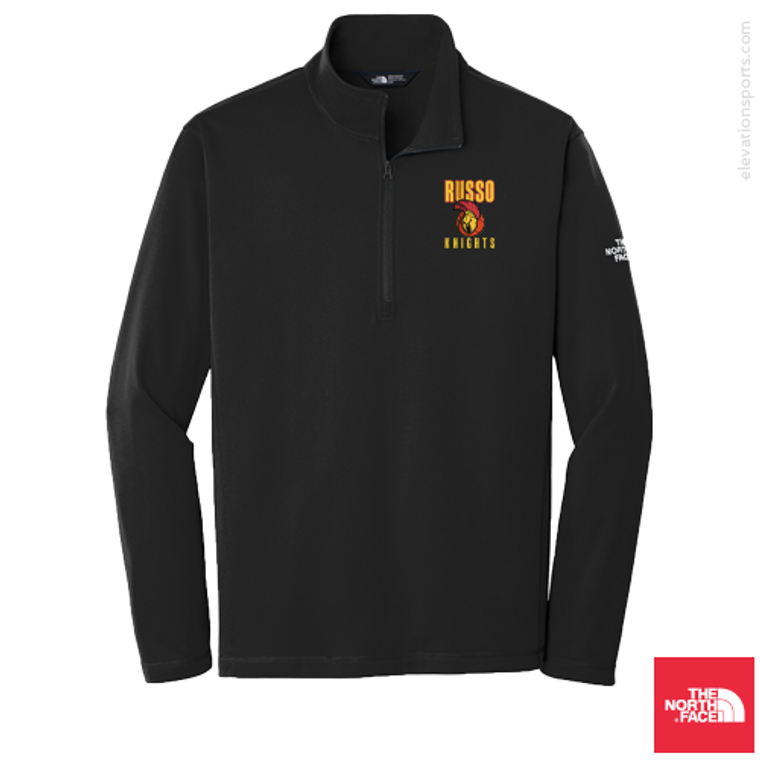 Custom North Face Tech Quarter-Zip Fleece Jacket - Black