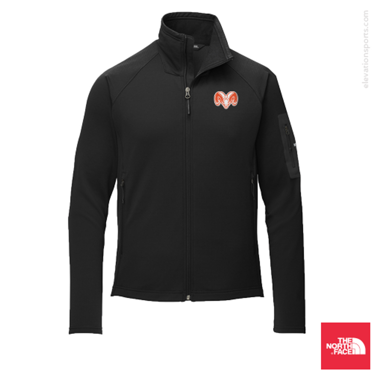 Custom North Face Mountain Peaks Fleece Jacket - Black