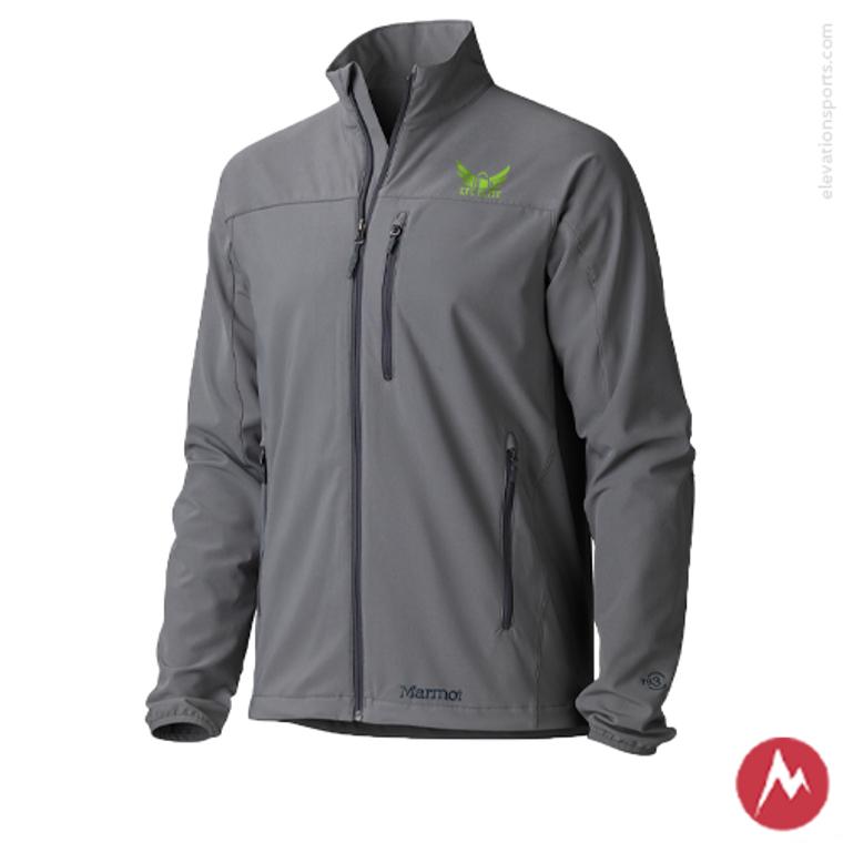 Custom Marmot Tempo Softshell Jackets - Cinder