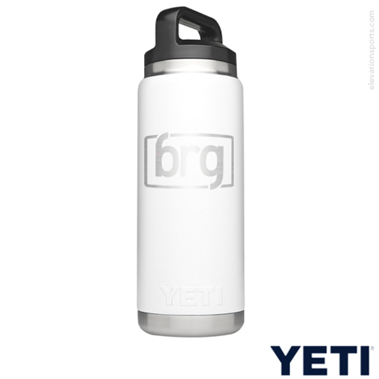 Custom YETI Water Bottle - 26 oz - White